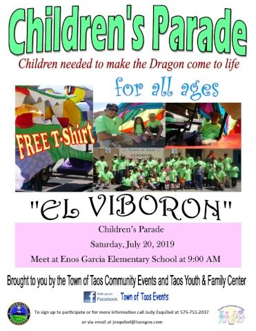 El Viboron for the Fiesta de Taos Childrens Parade website