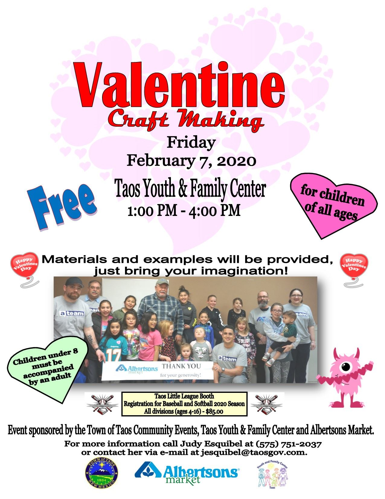 Valentine Craft Making Flyer 2020