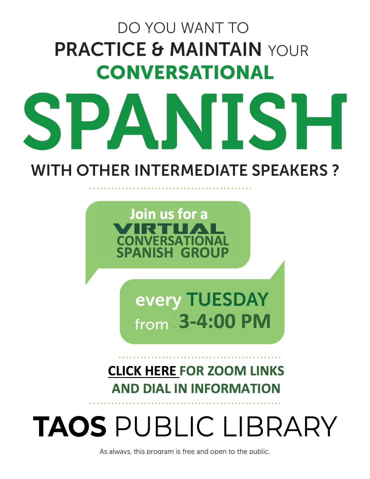 Virtual Spanish Flyer (Website)