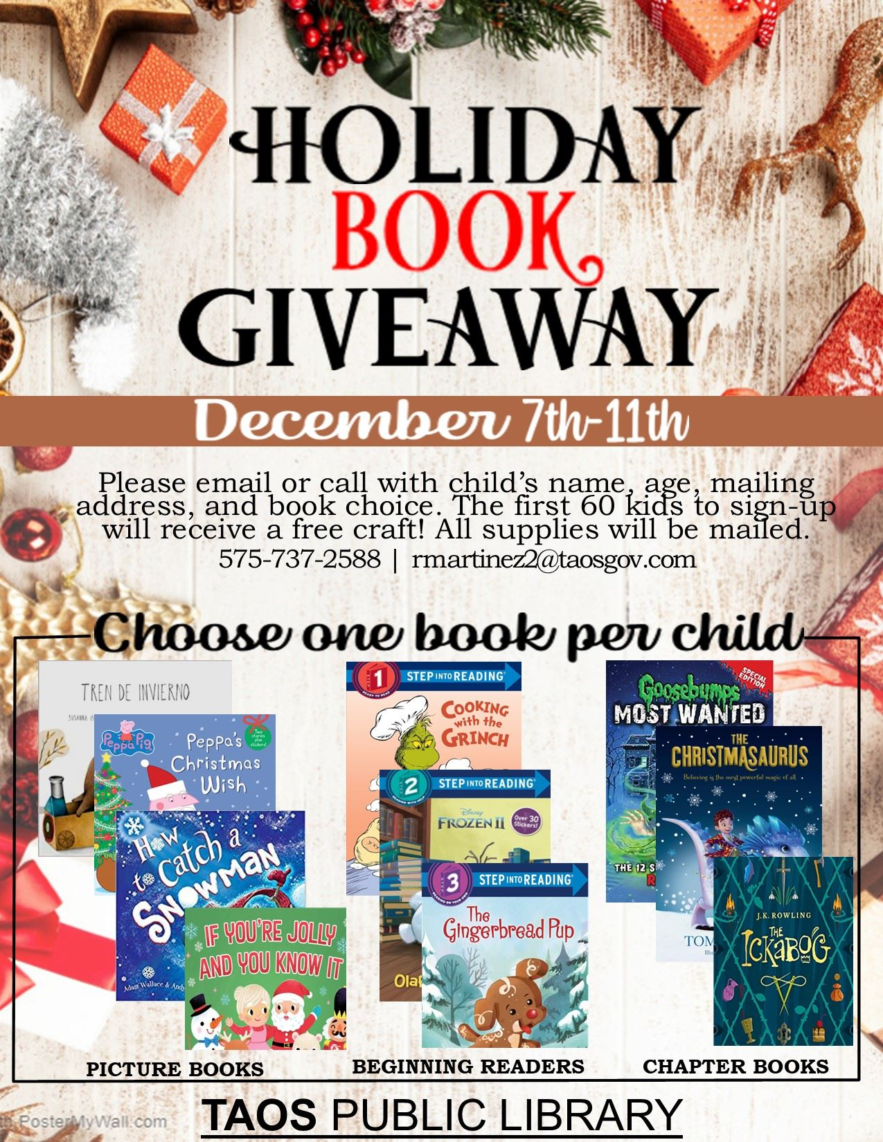 TPL Holiday Book Giveaway