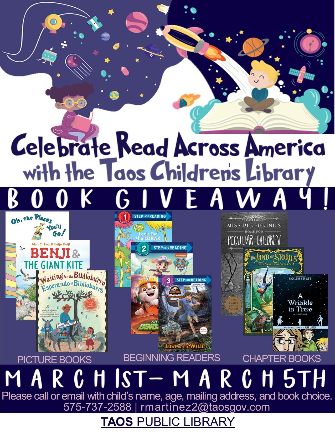 Read Across America Book Giveaway