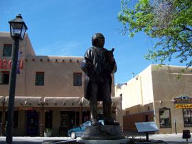 Bronze Statue at Taos Plaza